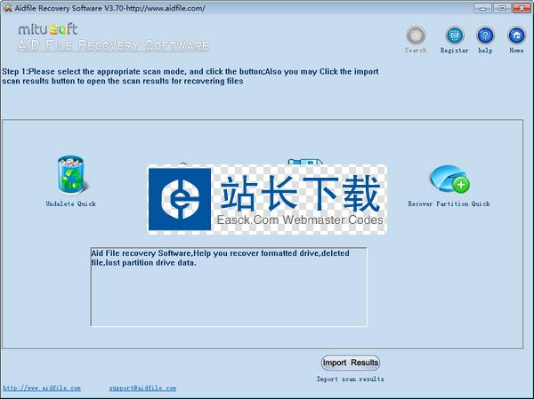 Aidfile Recovery Software(数据恢复软件)