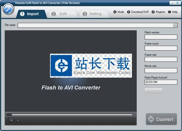 ThunderSoft Flash to AVI Converter(flash转avi工具)